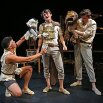 """The company of """"Bears in Space"""" at 59E59 Theaters"""