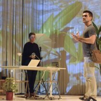 """Dan Domingues and the delightful Irene Lucio in """"The Undertaking"""" at BAM"""