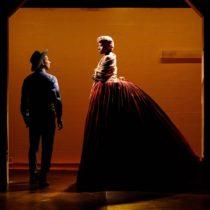 "Scott Sheppard and Jennifer Kidwell in ""Underground Railroad Game"" at Ars Nova"
