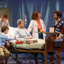 "The company of ""Falsettos"" at the Walter Kerr Theatre"