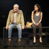 "Mary-Louise Parker and Denis Arndt in ""Heisenberg"" at the Friedman Theatre   Production Credits: Mark Brokaw (director)  Other Credits: Written by:"