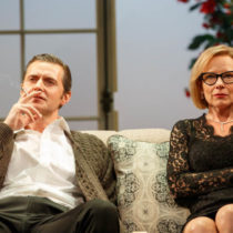 "Richard Armitage and Amy Ryan in ""Love, Love, Love"" at the Laura Pels Theatre"