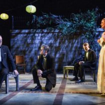 "The cast of ""The Roads to Home"" at the Cherry Lane Theatre"