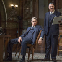 "John Slattery and Nathan Lane in ""The Front Page"" at the Broadhurst Theatre"