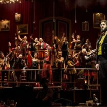"Josh Groban and the company of ""Natasha, Pierre & the Great Comet of 1812"" at the Imperial Theatre"