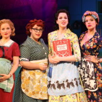 """The company of """"A Taste of Things to Come"""" at the York Theatre Company"""