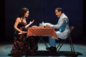 "Katrina Lenk and Tony Shalhoub in Atlantic Theater Company's ""The Band's Visit"" at the Linda Gross Theater"