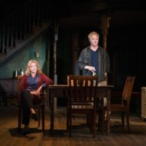 "Mary McCann and C.J. Wilson in ""On the Shore of the Wide World"" by Simon Stephens at the Atlantic Theater Company"