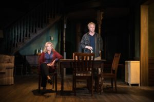 """Mary McCann and C.J. Wilson in """"On the Shore of the Wide World"""" by Simon Stephens at the Atlantic Theater Company"""