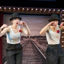 """Monica Bill Barnes and Anna Bass in """"One Night Only"""", courtesy of Women's Project Theater"""