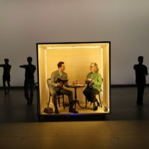"""Daniel Pettrow and Maira Kalman in """"The Principals of Uncertainty"""" at BAM Fisher"""