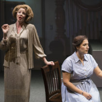 "Jessica Tyler Wright and Lisa Chavez in Tobias Picker's ""Dolores Claiborne"" courtesy of New York City Opera at 59E59 Theaters."