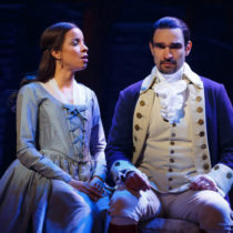"""Lexi Lawson and Javier Muñoz in """"Hamilton"""" at the Richard Rodgers Theatre."""
