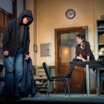 """Ki Hong Lee and Sue Jean Kim in Julia Cho's """"Office Hour"""" at the Public Theater."""