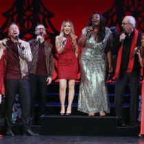 "The company of ""Home for the Holidays"" at the August Wilson Theatre."