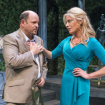"""Jason Alexander and Sherie Rene Scott in Manhattan Theatre Club's production of """"The Portuguese Kid"""" by John Patrick Shanley at New York City Center."""