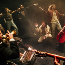 """The company of Hofesh Shechter's """"Grand Finale"""" at BAM."""