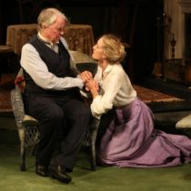 """John Windsor-Cunningham and Rachel Pickup in Brian Friel's """"The Home Place"""" at the Irish Rep."""
