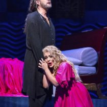 "Ailyn Pérez stars in the title role of Massenet's ""Thaïs"" at the Metropolitan Opera House."