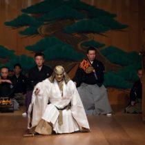 """Hiroshi Sugimoto's newly-commissioned noh drama """"Rikyu-Enoura"""" at Japan Society."""