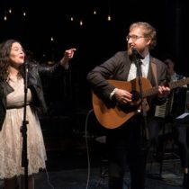 """Abigail and Shaun Bengson in """"Hundred Days"""" in New York Theatre Workshop."""