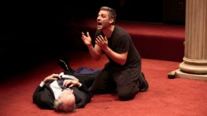 "Oscar Isaac in Sam Gold's production of ""Hamlet"" at the Public Theater."