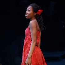 """Hailey Kilgore in the revival of Ahrens and Flaherty's """"Once on this Island"""" at Circle in the Square Theatre."""