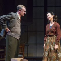 "Daniel Gerroll and Robin Abramson in Fellowship for Performing Arts' production of ""Shadowlands"" by William Nicholson at the Acorn Theatre at Theatre Row."