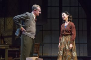 """Daniel Gerroll and Robin Abramson in Fellowship for Performing Arts' production of """"Shadowlands"""" by William Nicholson at the Acorn Theatre at Theatre Row."""