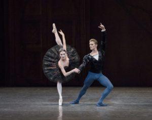 "Tiler Peck and Chase Finlay in New York City Ballet's ""Swan Lake"" at the David H. Koch Theater. Act II New York City Ballet Choreography by Peter Martins Credit Photo: Paul Kolnik studio@paulkolnik.com nyc 212-362-7778"