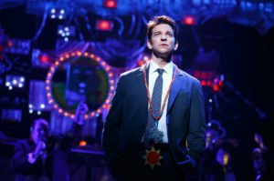 "Andy Karl in ""Groundhog Day"" at the August Wilson Theatre."