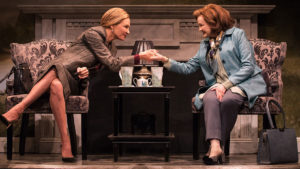 "Uma Thurman and Blair Brown in Beau Willimon's ""The Parisian Woman"" at the Hudson Theatre."