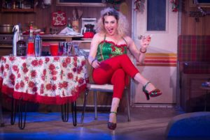 "Lesli Margherita in ""Who's Holiday"" at the Westside Theatre."