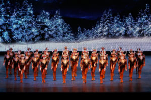 "The Rockettes in the ""Radio City Christmas Spectacular"" at the Radio City Music Hall."