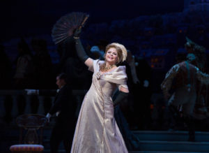 "Susan Graham in Lehár's ""The Merry Widow"" at the Metropolitan Opera."