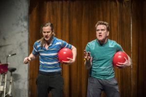 "Mikel Murfi and Tadhg Murphy in Enda Walsh's ""Ballyturk"" at St. Ann's Warehouse."