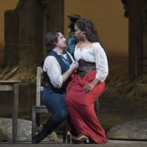 "Matthew Polenzani and Pretty Yende in Donizetti's ""L'Elisir d'Amore"" at the Metropolitan Opera."
