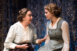 "Sandra Shipley and Rebecca Noelle Brinkley in Stanley Houghton's ""Handles Wake"" at the Mint Theater Company."