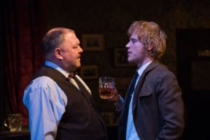 "Mark Addy and Johnny Flynn in Martin McDonagh's ""Hangmen"" at the Atlantic Theater Company."